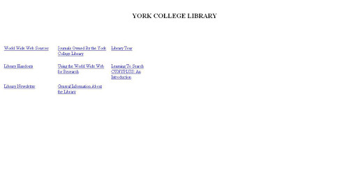 Screen shot of 1999 website
