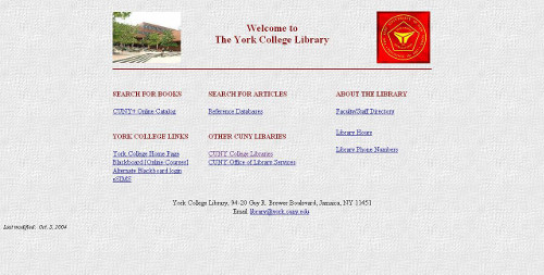 Screen shot of 2004 website