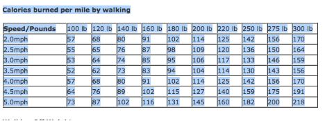 Joseph Malkevitch: Burning Off Calories by Walking